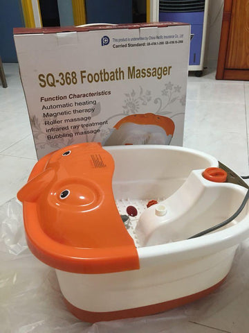 SQ-368 Footbath Massager Electric Foot Spa Basin Foot Care Machine Foot Massager Magnetic Therapy Machine price in Nepal