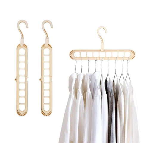 This hanger can greatly save your wardrobe space. Perfect for home and apartments with limited space. Keep shirts, pants, and blouses organized and wrinkle-free. There are flexible joints on both ends for horizontal or vertical use. Type: Space Saving Hanger Material: Plastic price in Nepal