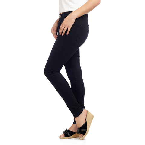 Women's High Waist Black Skinny Fit Denim Pants by Attire Nepal