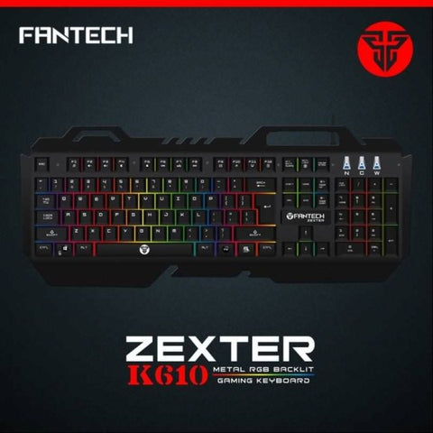 FANTECH K610 WATERPROOF GAMING KEYBOARD RGB 104 KEYS