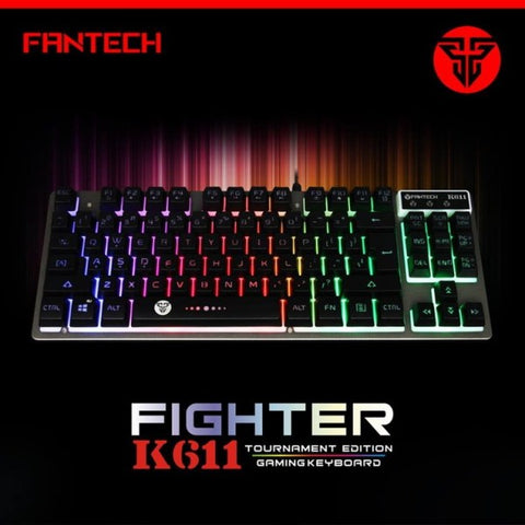 FANTECH K611 USB WIRED GAMING MEMBRANE KEYBOARD