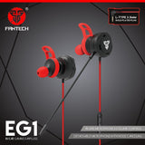 FANTECH EG1 IN-EAR EARPHONE WITH DETACHABLE MIC