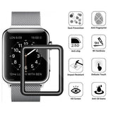 ‎14001204 42-44 mm Apple Watch 4 3 2 1 Strap With Metal Cover Adjustable Magnetic Closure Clasp Sliver
