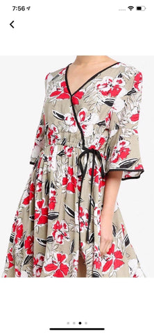 Zalora Wrap Dress With Binding Details
