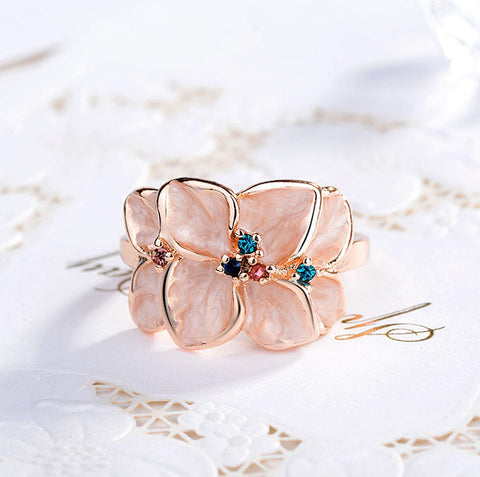 Elegant Petals Flower Fantasy Ring