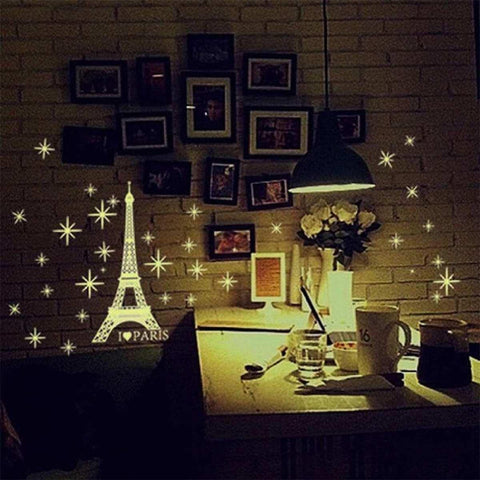 I Love Paris Night Eiffel Tower Luminous Sticker Wall Sticker Wall Decals price in Nepal
