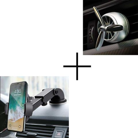 Combo Of Luxury Car Phone Holder And Car Air Fresheners Vent Clip price in nepal