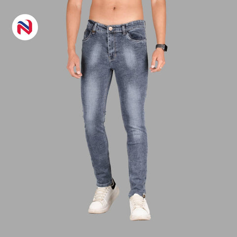 Nyptra Grey Blash Stretchable Premium Jeans For Men price in nepal