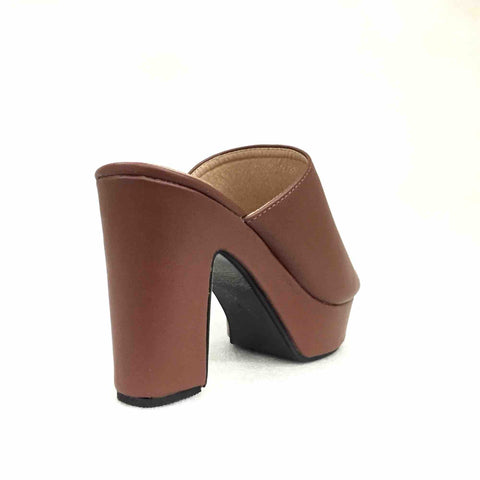 Coffee Brown Comfortable Peep Toe Sandal For Women
