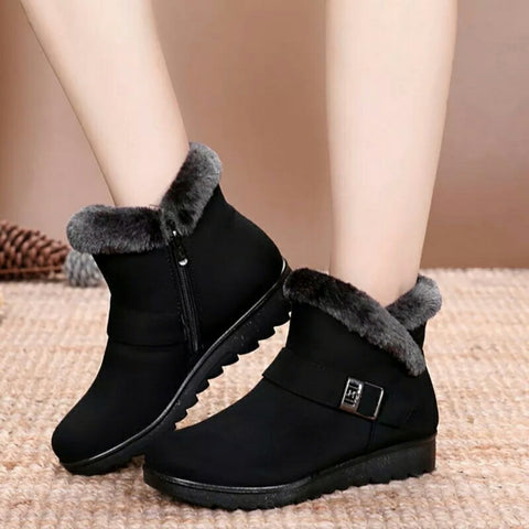 Luxurious Women Winter Warm Snow Boots Fashionable Tassel Flat Platform Cotton Boot (Nep-2)