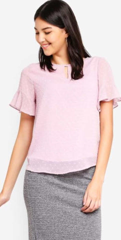 Basic Ruffle Sleeve Tops price in nepal