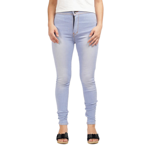 Women's High Waist Skinny Fit Denim Pants by Attire Nepal
