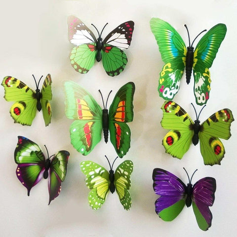 12Pcs 3D Butterfly Wall Stickers Crafts Butterflies With Sponge Gum And Pins price in nepal