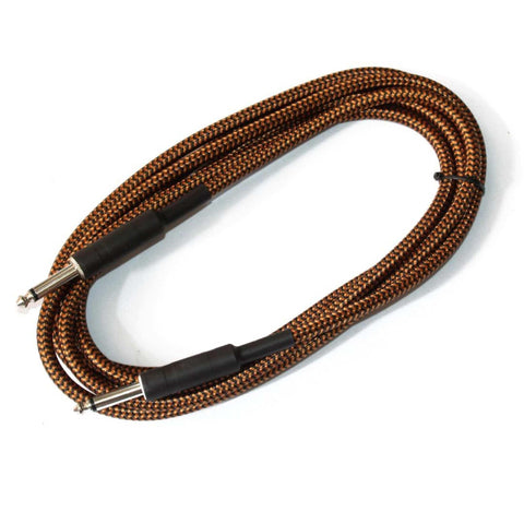 Brown Straight Jack Guitar Audio Cable - (3 Meter) price in Nepal
