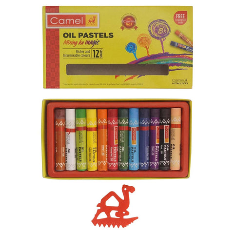 Camel Oil Pastels, 12 Shades