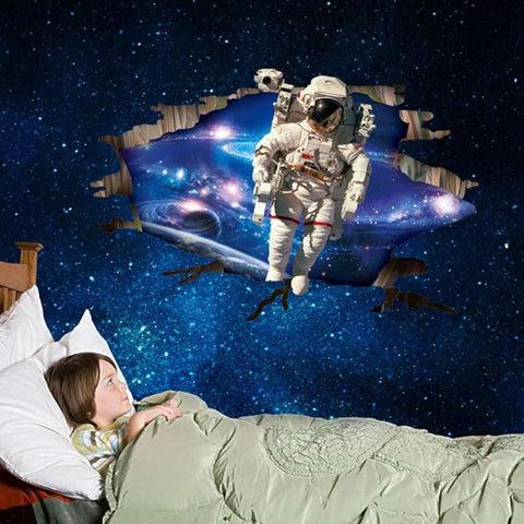 Large Blue Sky Astronaut In Space Wall Sticker For Kids Room price in Nepal