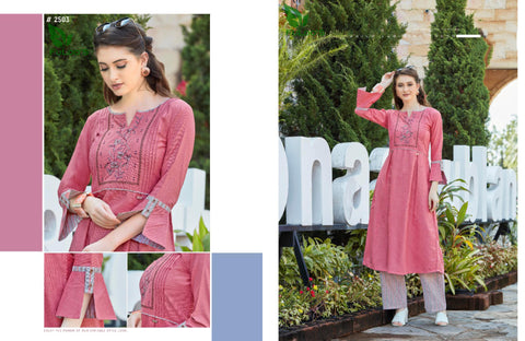 Dream Line Linen Square Western Top with Embroidery Work bottom #2503 price in nepal