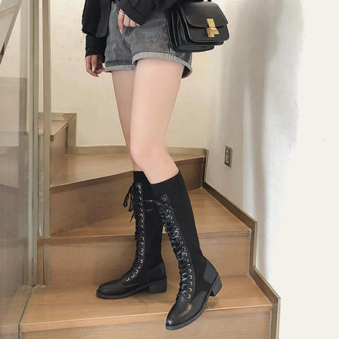 Luxurious New Trendy Long Knee Winter Boots For Women ( 8848) price in Nepal