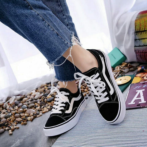 Genuine Lace-up Sneakers For Women