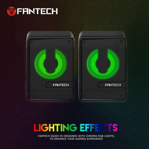 FANTECH GS203 Computer Speaker Mini RGB Lighting Speaker HIFI Subwoofer Speaker For  price in nepal