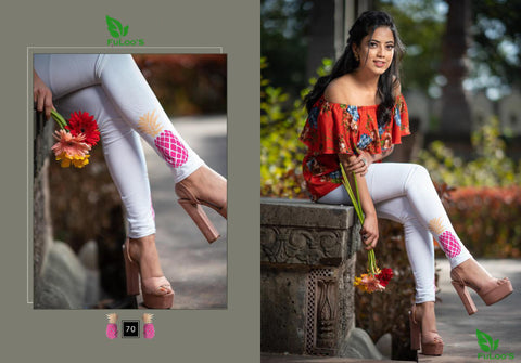 Women Printed Leggings ( WHITE ) price in nepal