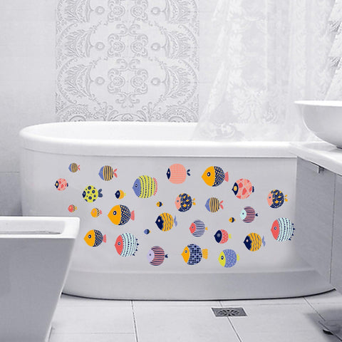 Mosaic Fish Removable Home Room Decorative Wall Door Decor Sticker price in Nepal