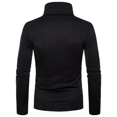 Hot Fashion Men Sweater Solid Roll Turtle Neck Pullover Knitted Jumper Winter Men Fashion Casual Hi-Neck Tops By Bajrang