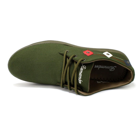 Army Green Lace-Up Shoes For Men- P40712