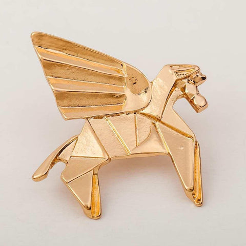 Geometric Horse Pattern Alloy Brooch For Women price in Nepal