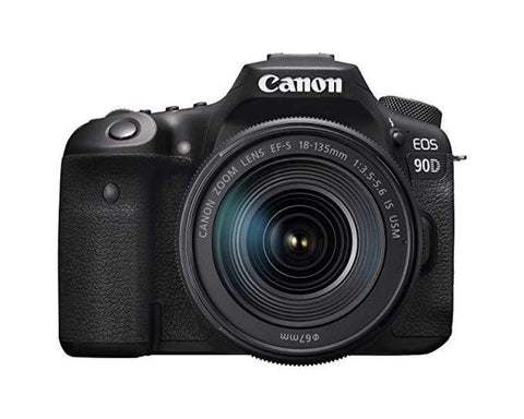 Canon Eos 90D Digital Slr Camera With Ef-S 18-135Mm F/3.5-5.6 Image Stabilisation Usm Lens Kit (16 Gb Sd Card) - Black