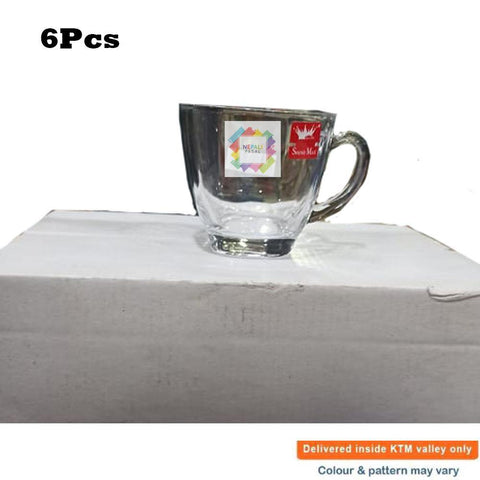 Set of 6 Glass Tea Cup Set price in nepal
