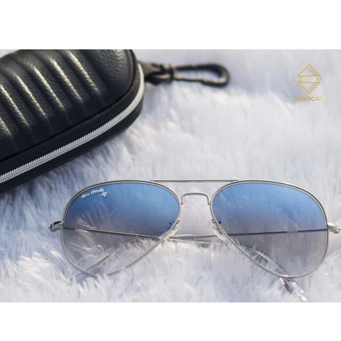 Lookscart Th Aviator Unisex Sunglasses- Shaded Blue
