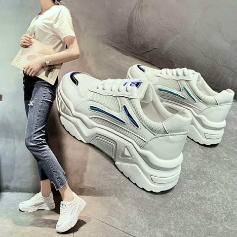 Breathable Lace Up Sneakers For Women