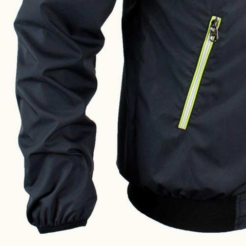 Neon Black Windcheater For Men
