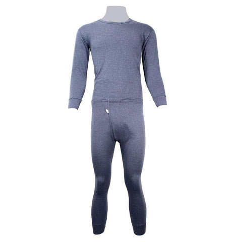 Bluish Grey Thermal Set For Men