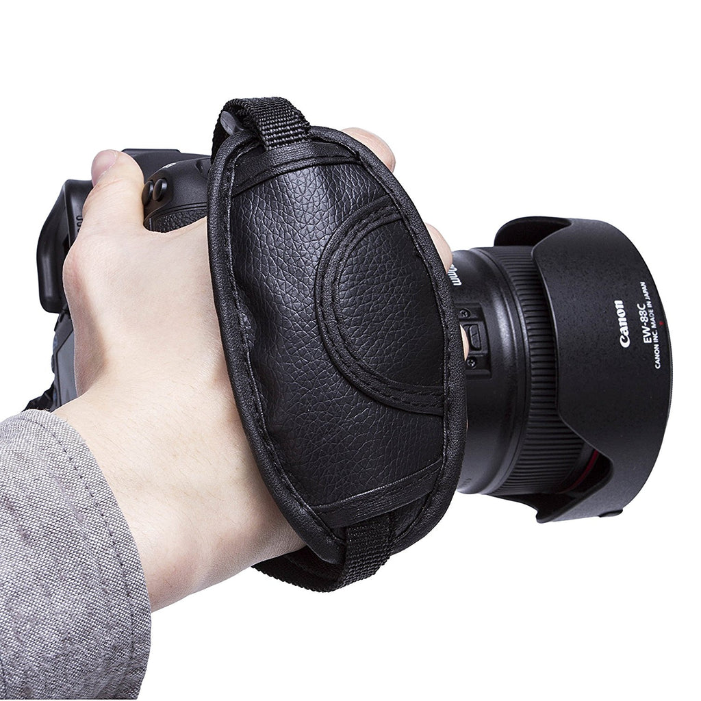 High Quality Leather Hand Grip Strap Leather Wrist Strap for DSLR Cameras