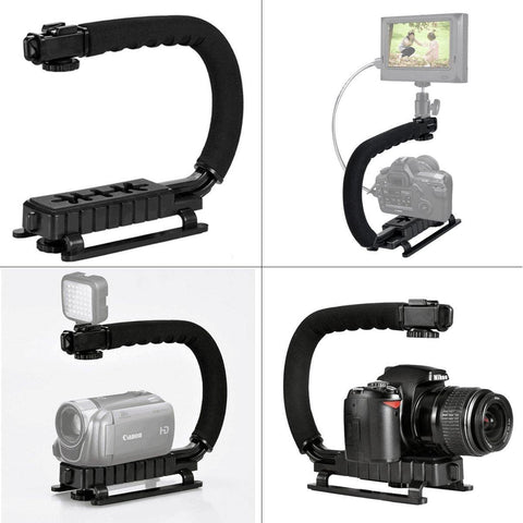 35001022 DSLR Gopro Camera Stabilizer C Shape Rig Low Position Shooting System