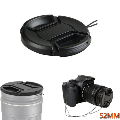 35001081 52mm/58mm/62mm/72mm/77mm/82mm Lens Cap For Canon  Nikon  Olympus Sony Leica DSLR Camera
