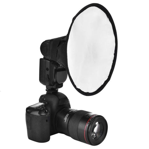 35001399 40cm Universal Portable Round Studio Photography Flash Diffuser Softbox for DSLR Camera