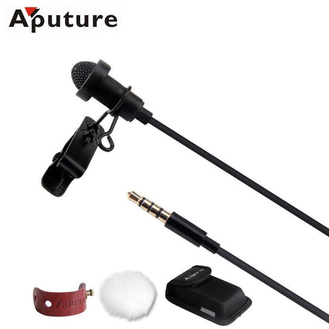 35001811 Aputure A.lav ez Broadcast Quality Omnidirectional with Wind Shield Portable for Gopro Smartphone