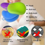Clean Dish Washing Soft Silicone Sponge Antibacterial Kitchen Scrubber