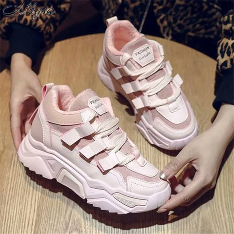 Breathable Lace-Up Casual Sneakers For Women ( S12 )