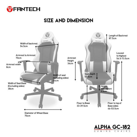 FANTECH ALPHA 182 GAMING CHAIR