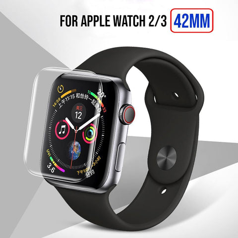 Full Size Anti-Explosion Soft Tpu Screen Guard Film For Apple Watch 2/3 -42Mm
