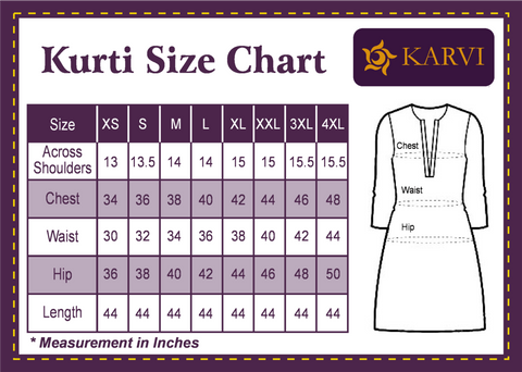 KARVI Pink & Grey Ikat pattern design Ethnic Kurti for Women with Front Button