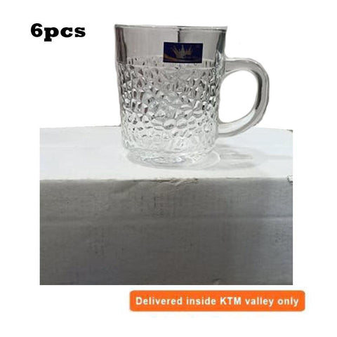Glass Tea Cup Set of 6 price in nepal