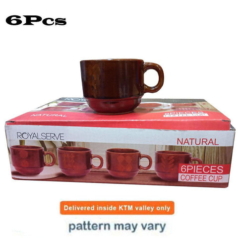 Coffee Tea Cup Set of 6 Pcs Natural price in nepal