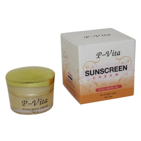 P-Vita Sunscreen Light Cream For Face Protection Control Oil /Reduce Dark Spots -10G