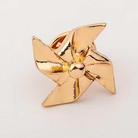Geometric Windmill Pattern Alloy Brooch For Women price in Nepal