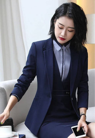 Women's Structured Notched Lapel Blazer by Attire Nepal
